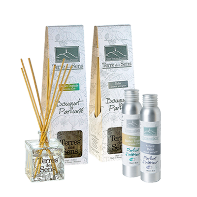 Pack Ambiance Fraîche Diffuseurs (100 ml) + Recharge (100 ml) Essence Tropicale + Diffuseurs (100 ml) + Recharge (100 ml) Relax